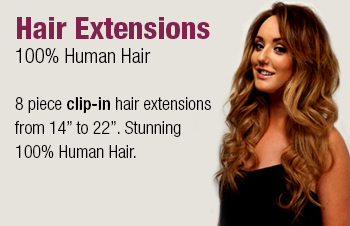 Luxury Human Hair Extensions from the Charlotte Crosby Hair Extension Collection